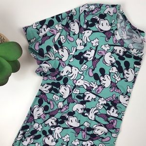 Lularoe Disney Mickey Dress Carley XL Teal Purple